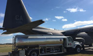 photo of DFS fuel truck with AV fuel logo