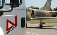 jet getting quick turn fuel service and flip this plane challenge